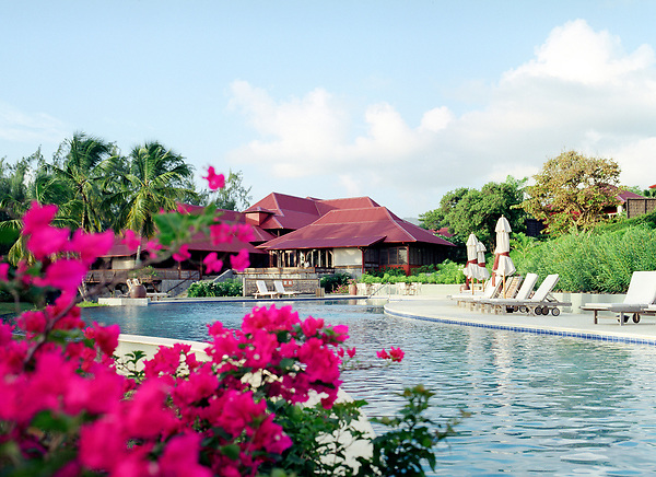 The main pool at the Cap Est Lagoon Resort & Spa. Cap Est, Martinique. Eastern Caribbean.