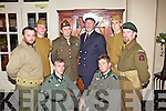 Dressed in uniform for a 1940's themed ball held last Sunday night in The Listowel Arms Hotel was f l-r: Cormac Heffernan, Wayne Quinn. B l-r: Gerald Forde, Conor O'Donovan, Padraig Nolan, Damien Stack, Kieran Barry and Con O'Sullivan with proceeds in aid of the 'May Day May Day' vintage festival.