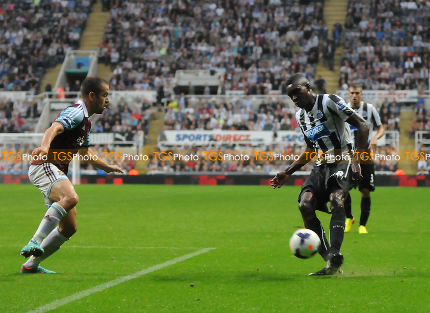 Sammy Ameobi of Newcastle United shoots and hits the post late in the second half - Newcastle United vs West Ham United - Barclays Premier League Football at St James Park, Newcastle upon Tyne - 24/08/13 - MANDATORY CREDIT: Steven White/TGSPHOTO - Self billing applies where appropriate - 0845 094 6026 - contact@tgsphoto.co.uk - NO UNPAID USE