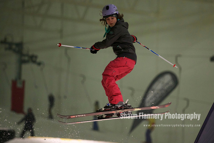 Pix: Shaun Flannery/shaunflanneryphotography.com<br /> <br /> COPYRIGHT PICTURE&gt;&gt;SHAUN FLANNERY&gt;01302-570814&gt;&gt;07778315553&gt;&gt;<br /> <br /> 6th February 2015<br /> Snozone Castleford<br /> Sochi Freestyle Competition<br /> Thea Fenwick