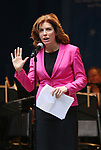 Julie Menin on stage at United Airlines Presents #StarsInTheAlley free outdoor concert in Shubert Alley on 6/2/2017 in New York City.
