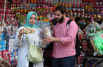 "A picture taken on May 8, 2018 show Egyptians buy traditional lanterns known in Arabic as ""Fanous"", at a market ahead of the holy Muslim month of Ramadan in Cairo, Egypt. Ramadan is sacred to Muslims because it is during that month that tradition says the Koran was revealed to the Prophet Mohammed. The fast is one of the five main religious obligations under Islam. Muslims around the world will mark the month, during which believers abstain from eating, drinking, smoking and having sex from dawn until sunset. Photo by Amr Sayed"