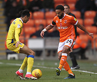 Blackpool's Liam Feeney in action with Bristol Rovers' Daniel Leadbitter<br /> <br /> Photographer Mick Walker/CameraSport<br /> <br /> The EFL Sky Bet League One - Blackpool v Bristol Rovers - Saturday 3rd November 2018 - Bloomfield Road - Blackpool<br /> <br /> World Copyright © 2018 CameraSport. All rights reserved. 43 Linden Ave. Countesthorpe. Leicester. England. LE8 5PG - Tel: +44 (0) 116 277 4147 - admin@camerasport.com - www.camerasport.com