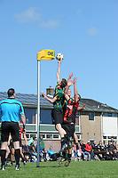 KORFBAL: REDUZUM: Sportpark Reduzum, 28-04-2013, Veld Hoofdklasse A, KV Mid Fryslân-LDODK AH Gorredijk, Eindstand 13-19, Erwin Zwart (#11 | LDODK), ©foto Martin de Jong