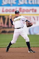 Trenton Thunder third baseman Bradley Suttle #36 during a game against the Portland Sea Dogs at Waterfront Park on May 4, 2011 in Trenton, New Jersey.  Trenton defeated Portland by the score of 7-1.  Photo By Mike Janes/Four Seam Images