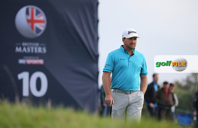 Graeme McDowell (NIR) in action during Round Three at the The British Masters 2016, at The Grove, Hertfordshire, England. 15/10/2016. Picture: David Lloyd | Golffile.