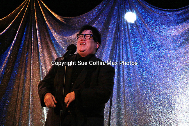 One Life To Live Lea Delaria performs at ICNY (Imperial Court of New York): Daytime Meets Nighttime Cabaret benefitting LifeBeat: Music Fights HIV and Jan Hus Neighborhood Church, two organizations giving back to the community at November 4, 2011 at the Jan Hus Playhouse Theatre, New York City, New York. (Photo by Sue Coflin/Max Photos)