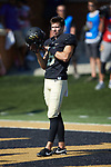 Wake Forest Demon Deacons punter Dom Maggio (8) prior to the game against the Notre Dame Fighting Irish at BB&T Field on September 22, 2018 in Winston-Salem, North Carolina. The Fighting Irish defeated the Demon Deacons 56-27. (Brian Westerholt/Sports On Film)