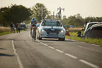 Tony Martin (DEU) was one of the few riders out early on the morning of the TT (2 hrs before the first rider was out) to do a proper recon. <br />