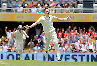 Jimmy Anderson (England) - Photo SMPIMAGES.COM / newscorpaustralia.com - Action from the 1st Test of the 2017 / 2018 Magellan Ashes Cricket series between Australia v England played at the Gabba, Brisbane Australia. MANDATORY CREDIT/BYLINE : SWpix.com/PhotosportNZ
