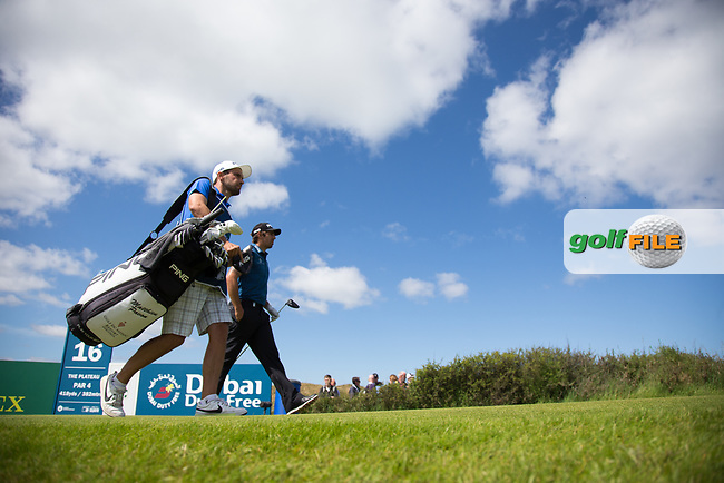 Matthieu Pavon (FRA) on the 16th during the 3rd round at the Dubai Duty Free Irish Open hosted by the Rory Foundation, at Portstewart Golf Club, Portstewart, Co. Derry, Northern Ireland. 08/07/2017<br /> Picture: Golffile | Fran Caffrey<br /> <br /> <br /> All photo usage must carry mandatory copyright credit (&copy; Golffile | Fran Caffrey)