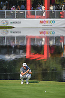 Bernd Wiesberger (AUT) lines up his putt on 17 during round 1 of the World Golf Championships, Mexico, Club De Golf Chapultepec, Mexico City, Mexico. 3/1/2018.<br /> Picture: Golffile | Ken Murray<br /> <br /> <br /> All photo usage must carry mandatory copyright credit (&copy; Golffile | Ken Murray)