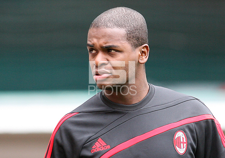 Dominic Adiyiah of A.C.Milan during a practice session at RFK training facility in Washington D.C. on May 24, 2010.