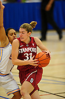 LOS ANGELES, CA - December 31, 2011:  Stanford's Toni Kokenis during play against the UCLA Bruins at the Wooden Center.   Stanford defeated UCLA, 77 - 50.