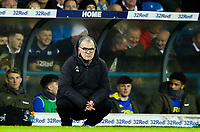 Leeds United manager Marcelo Bielsa watches on during there first half<br /> <br /> Photographer Alex Dodd/CameraSport<br /> <br /> The EFL Sky Bet Championship -  Leeds United v Derby County - Friday 11th January 2019 - Elland Road - Leeds<br /> <br /> World Copyright &copy; 2019 CameraSport. All rights reserved. 43 Linden Ave. Countesthorpe. Leicester. England. LE8 5PG - Tel: +44 (0) 116 277 4147 - admin@camerasport.com - www.camerasport.com
