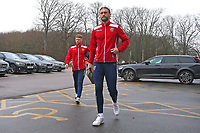 Fraser Franks of Stevenage arrives for the match during Stevenage vs Crewe Alexandra, Sky Bet EFL League 2 Football at the Lamex Stadium on 10th March 2018
