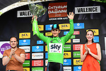 Polish National Champion Michal Kwiatkwoski (POL) Team Sky wins the opening Prologue and also wears the first Green Jersey of the 2018 Criterium du Dauphine running 6.6km around Valence, France. 3rd June 2018.<br /> Picture: ASO/Alex Broadway | Cyclefile<br /> <br /> <br /> All photos usage must carry mandatory copyright credit (&copy; Cyclefile | ASO/Alex Broadway)