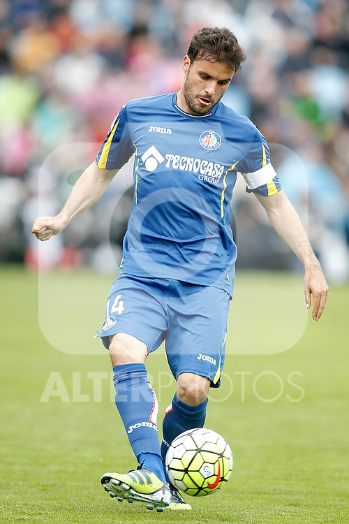 Getafe's Pedro Leon during La Liga match. April 16,2016. (ALTERPHOTOS/Acero)