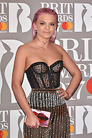 Louisa Johnson<br /> The Brit Awards at the o2 Arena, Greenwich, London, England on February 22, 2017.<br /> CAP/PL<br /> &copy;Phil Loftus/Capital Pictures /MediaPunch ***NORTH AND SOUTH AMERICAS ONLY***