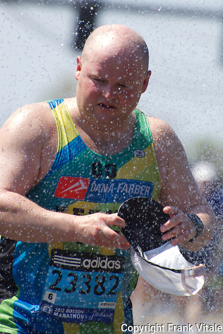 2012 Boston Marathon Runner Cooling Down