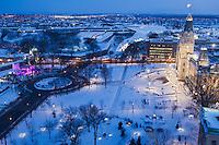 Amérique/Amérique du Nord/Canada/Québec/ Québec: l'Hôtel du Parlement (Assemblée Nationale du Québec) et la place de l'Assemblée Nationale