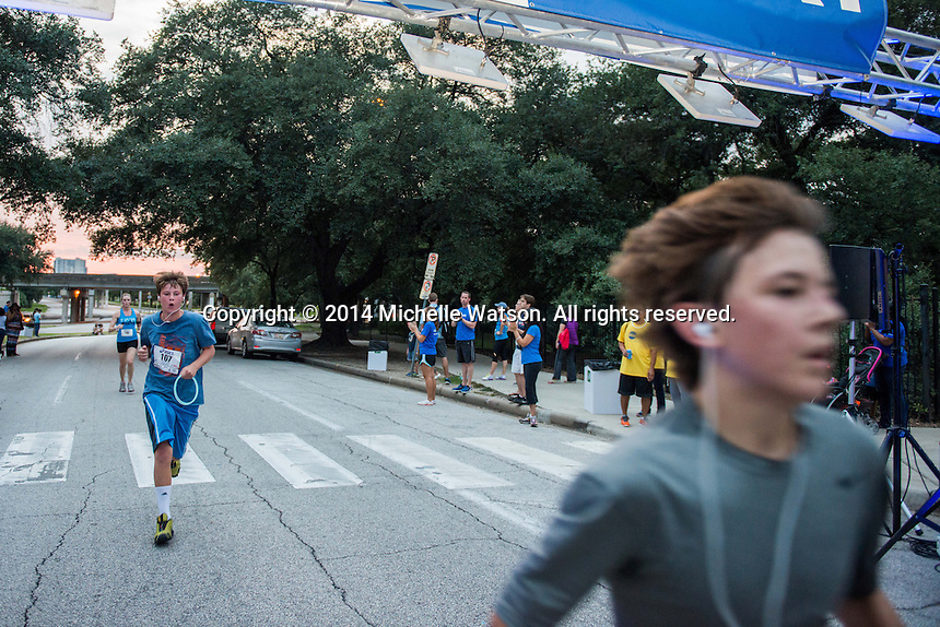 Blue Cure Night Run at Sam Houston Park