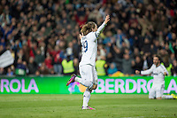 Modric celebrates his own goal