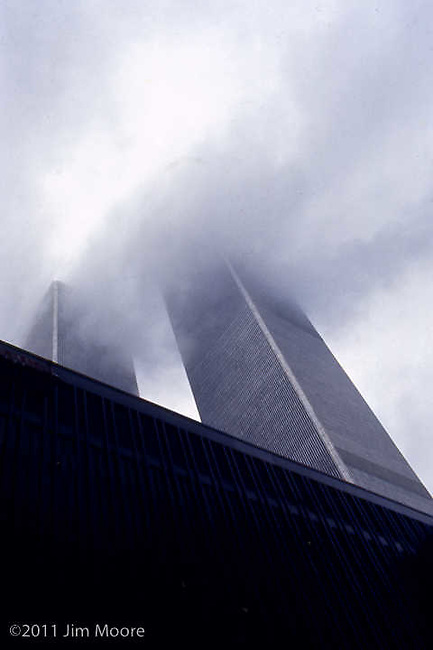 WTC during wind storm looking up.