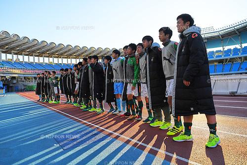 Aomori Yamada team group, <br /> JANUARY 5, 2017 - Football / Soccer : <br /> 95th All Japan High School Soccer Tournament Quater Final between Shochi Fukaya 1-3 Aomori Yamada<br /> at Kawasaki Todoroki Stadium, Kanagawa, Japan.<br /> (Photo by AFLO SPORT)