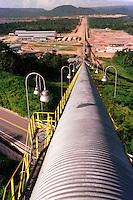 Cia. Vale do Rio Doce. Vista da esteira de rolagem. Serra do Sossego<br />Canãa dos Carajás-Pará-Brasil<br />Foto: Paulo Santos/ Interfoto<br />Negativo 135 Nº 8501 T2 7 F3a