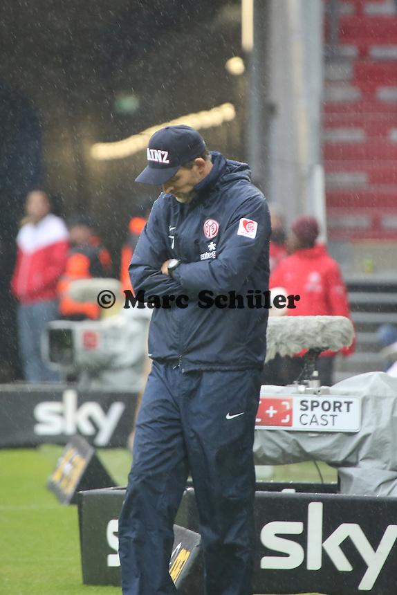 Trainer Thomas Tuchel (Mainz) frustriert  - 1. FSV Mainz 05 vs. TSG 1899 Hoffenheim, Coface Arena, 8. Spieltag