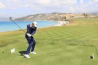 Pietro Bovari (AM) of Italy during the second round of the Rocco Forte Sicilian Open played at Verdura Resort, Agrigento, Sicily, Italy 11/05/2018.<br /> Picture: Golffile | Phil Inglis<br /> <br /> <br /> All photo usage must carry mandatory copyright credit (&copy; Golffile | Phil Inglis)