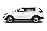 Car Driver side profile view of a 2016 KIA Sportage SX 5 Door Suv Side View