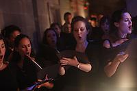 KATONAH, NY - JUL 10: Members of the St. Luke's Orchestra led by Will Crutchfield and opera singers Angela Meade, Keri Alkema, Emmanuel Di Vilarosa and Daniel Mobbs perform Bellini's Norman at Caramoor's Venetian Theater on Saturday, July, 10, 2010, in Katonah, NY. (Photo by Landon Nordeman)