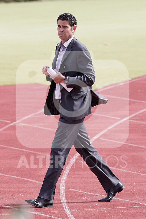 MADRID (25/05/09).- The Spanish Soccer national training session.  Fernando Hierro...PHOTO: Cesar Cebolla / ALFAQUI