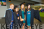 Bobbie Stack (Causeway), Sharon O'Sullivan, Christine McMahon (Currow) and Lorraine Crowley all Early Childhood Care graduates looking to phone a friend as they graduate from I T Tralee on Friday