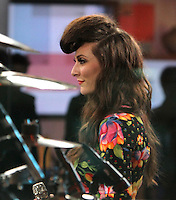 May 08, 2012  Amy Heidemann from the band Karmin at Good Morning America to promote their hit song Brokenhearted from the  new CD Hello in New York City. Credit: RW/MediaPUnch Inc.