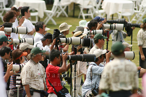 February 17, 2006; Kahuku, HI - A sea of photographers, many from Korea and Japan, were out in full force during the second round at the LPGA SBS Open at Turtle Bay Resort...Mandatory photo credit: Darrell Miho.© Darrell Miho