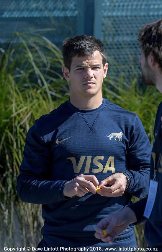 Media manager Lucas Chioccarelli during the Rugby Championship Argentina Pumas captain's run at Trafalgar Park in Nelson, New Zealand on Friday, 7 September 2018. Photo: Dave Lintott / lintottphoto.co.nz