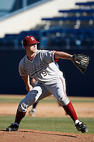 Erik Davis of the Stanford Cardinal during a game against the Cal State Fullerton Titans at Goodwin Field on February 4, 2007 in Fullerton, California. (Larry Goren/Four Seam Images)