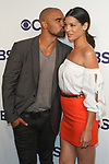 Shemar Moore and Stephanie Sigman arrive at the CBS Upfront at The Plaza Hotel in New York City on May 17, 2017.