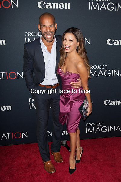 NEW YORK, NY - OCTOBER 24, 2013: Amaury Nolasco and Eva Longoria attend the Premiere Of Canon's Project Imaginat10n Film Festival at Alice Tully Hall on October 24, 2013 in New York City. <br />