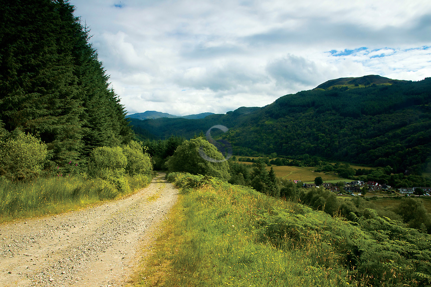 Walking above Glen Loin in the Argyll Forest Park near Arrochar, Loch Lomond & The Trossachs National Park, Argyll & Bute