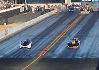 Jul 28, 2017; Sonoma, CA, USA; NHRA super gas driver Robert Naber (left) alongside Ken Mostowich during qualifying for the Sonoma Nationals at Sonoma Raceway. Mandatory Credit: Mark J. Rebilas-USA TODAY Sports