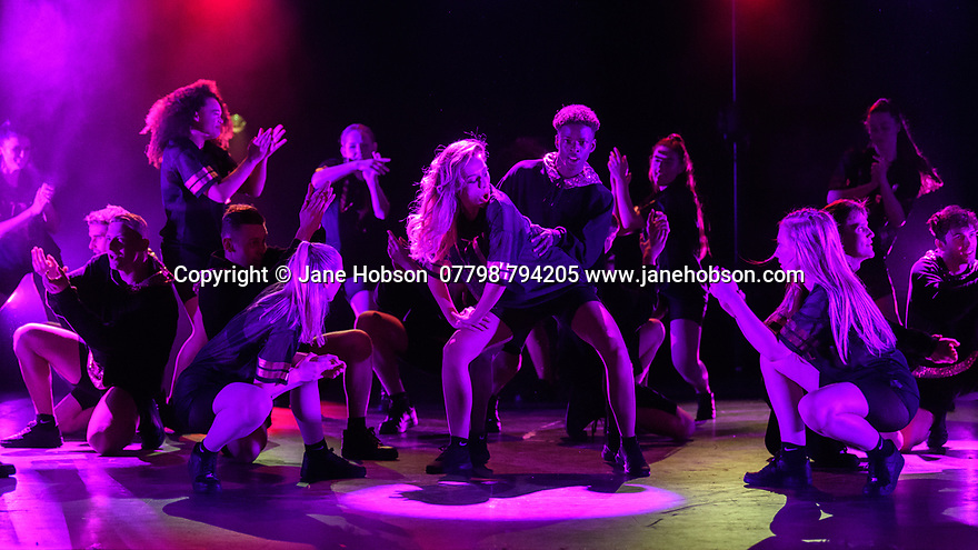 "Bromley, Kent, UK. 27.06.2018. D&B Academy of Performing Arts presents their graduation showcase 2018, at the Churchill Theatre, Bromley, Kent. Picture shows: ""Good Girl Gone Bad"", choreographed by Kirsten Wheeler. Photograph © Jane Hobson."