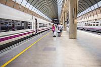 Spain, Seville. Renfe trains,