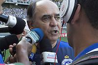 BELO HORIZONTE, MG, 06.04.2014 – CAMPEONATO MINEIRO 2014 – <br /> ATLÉTICO-MG X CRUZEIRO Tecnico Marcelo Oliveira do Cruzeiro durante jogo contra <br /> Atlético-MG valido pela final do Campeonato Mineiro 2014, no <br /> estádio Arena Independência, na tarde deste domingo (30) (Foto: <br /> MARCOS FIALHO / BRAZIL PHOTO PRESS)