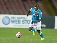 Kalidou Koulibaly  during the  italian serie a soccer match,between SSC Napoli and Chievo Verona      at  the San  Paolo   stadium in Naples  Italy , March 05, 2016<br /> Napoli won  3 - 1