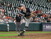 New York Yankees relief pitcher David Robertson (30) works in the ninth inning against the Baltimore Orioles at Oriole Park at Camden Yards in Baltimore, MD on Sunday, August 26, 2018.  The Yankees won the game 5 - 3.<br /> Credit: Ron Sachs / CNP<br /> <br /> (RESTRICTION: NO New York or New Jersey Newspapers or newspapers within a 75 mile radius of New York City)