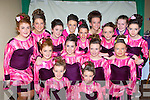 Dancers from the Hegarty school of dancing Killarney who competed in the Oireachtas Rince na Mumhan in the INEC on Friday front l-r: Karis Koschan, Kate Lawlor. Middle row: Rachel Moynihan, Ava O'Sullivan, Mary Murphy, Aobha O'Shea, Roisin O'Brien. Back row: Leah Moynihan, Sarah Randles, Katie Palmer, Seánagh Cronin, Shola Koschan, Islínn Ní Chroín, Tara O'Sullivan and Síona Moynihan